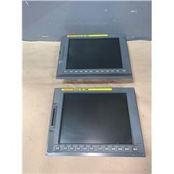 """(2) - FANUC A02B-0281-C072 10.4"""" FA-LCD UNITS_SERIES 18i-MB"""