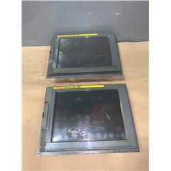 """(2) - FANUC A02B-0281-C081 10.4"""" FA-LCD UNITS_SERIES 18i-MB"""