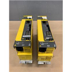 (2) - FANUC A06B-6127-H207 aiSV 40/40HV  SERVO DRIVES (CRACKED PLASTIC CASING)