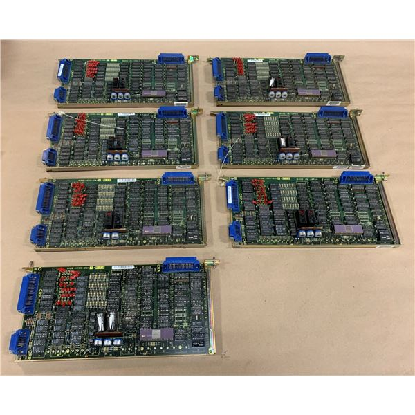 LOT OF (7) FANUC CIRCUIT BOARDS A16B-1200-0410/03B