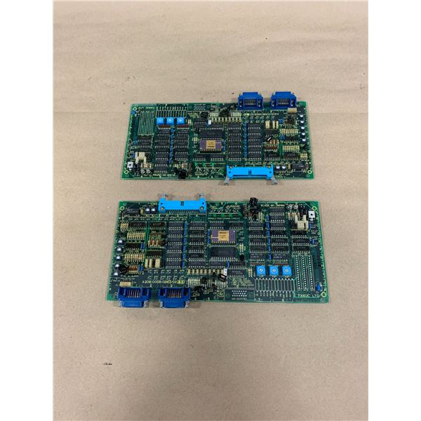 (2) - FANUC A20B-0008-0240/0213E CIRCUIT BOARDS