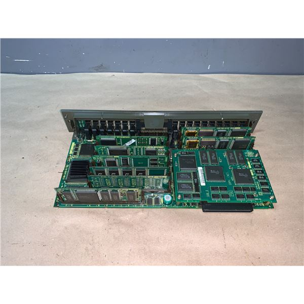 FANUC A16B-3200-0170/02B CIRCUIT BOARDS WITH DAUGHTER BOARDS AS SHOWN