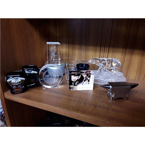 Lot of Collectible Glass Sports Memorabilia & More!!