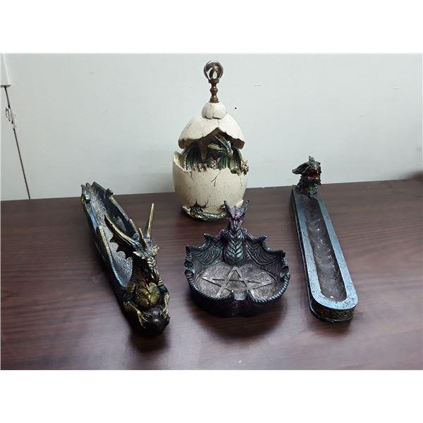 Lot of 4 Fantasy Dragon Items