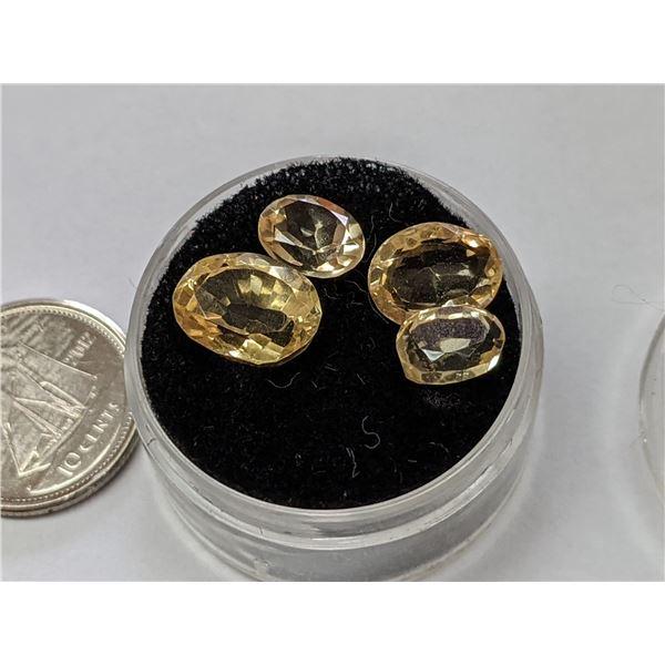 4 Oval Cut Authentic Citrine Gemstones