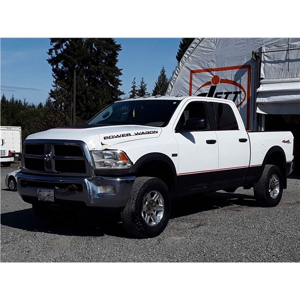 H2 --  2012 DODGE RAM 2500 POWER WAGON CREW CAB 4X4 , White , 270126  KM's