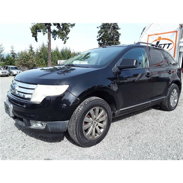 H6 --  2007 FORD EDGE SEL PLUS , Black , 214441  KM's