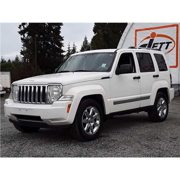 H4 --  2008 JEEP LIBERTY LTD , White , 277251  KM's