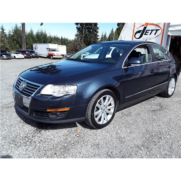 K1 --  2006 VW PASSAT 3.6L LUXURY , Black , 198247  KM's