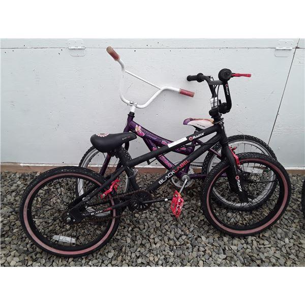 0L --  Lot of 2 Small Bikes Black Label & CCM