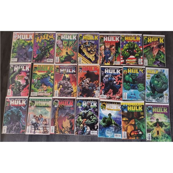 0ZB --  Lot of 21 The Incredible HULK #12 to #32