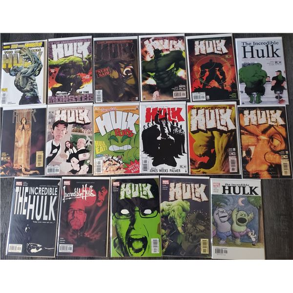 0ZC --  Lot of 17 The Incredible HULK #33 to #49