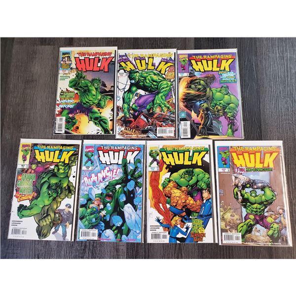 0ZD --  Lot of 7 The Rampaging HULK Comic Books