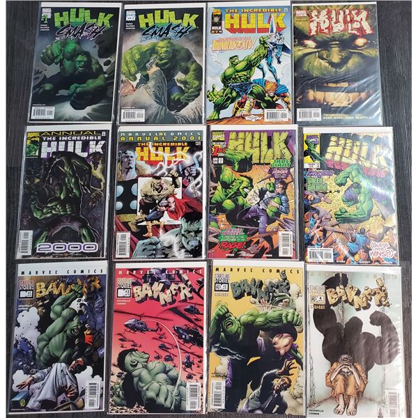 0ZE --  Lot of 12 Misc Series HULK Comic Books