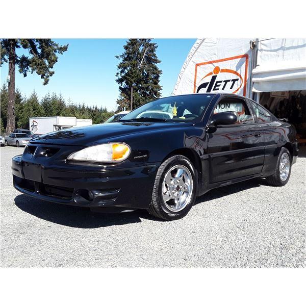 A10 --  2004 PONTIAC GRAND AM GT  , Black , 175476  KM's