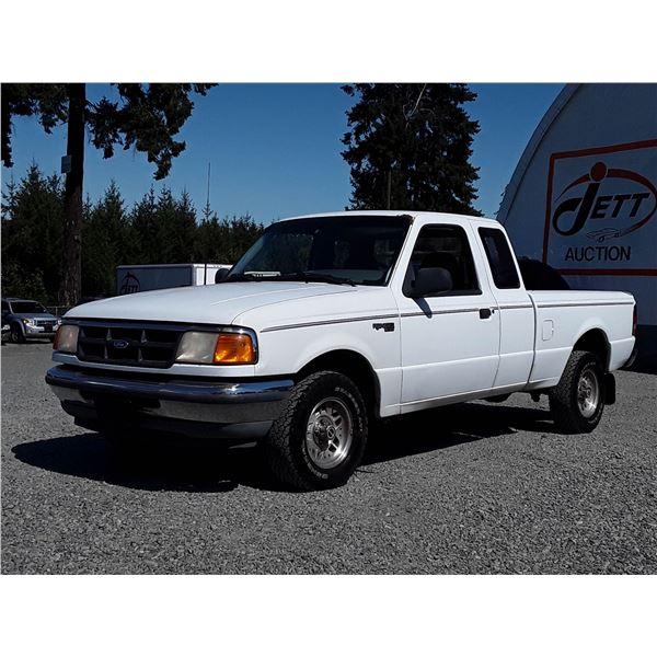 A3 --  1994 FORD RANGER SUPER CAB , White , 310735  KM's