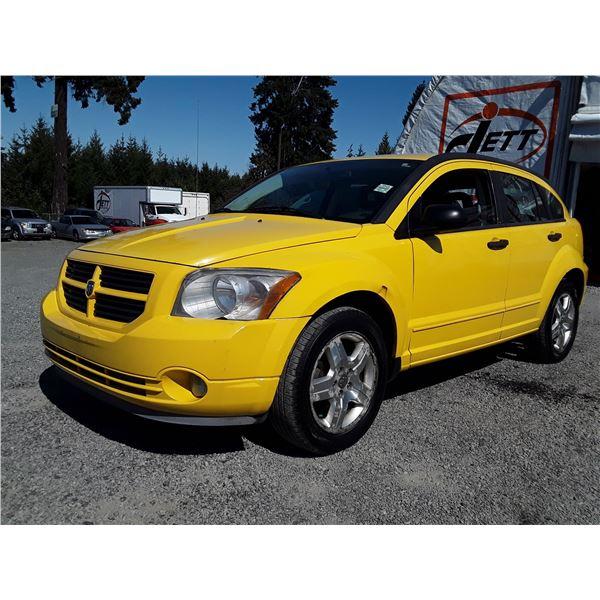 "A6 --  2007 DODGE CALIBER SXT , Yellow , 225308  KM's  ""NO RESERVE"""
