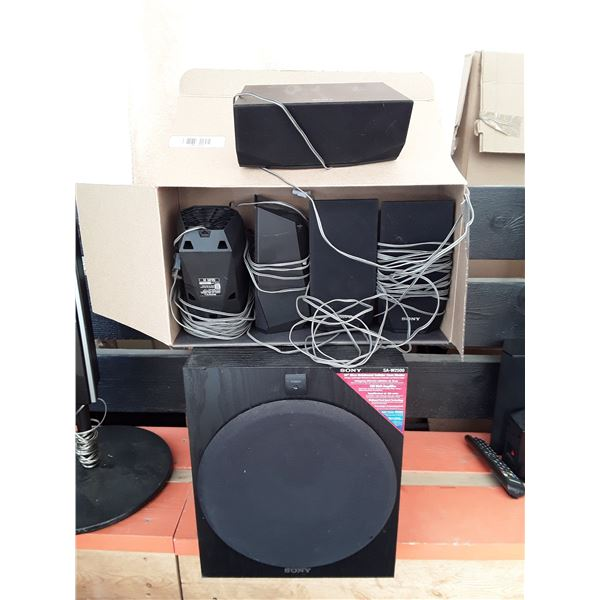 Sony Surround Sound Package  Center 4 Speakers & Subwoofer