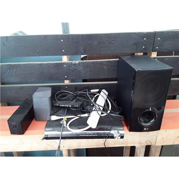 Sony DVD Player, LG Subwoofer, and More Electronics
