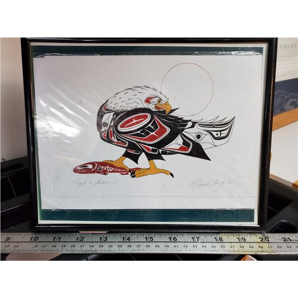 """Native Print    """" Eagle and Salmon""""  By Richard Shorty"""