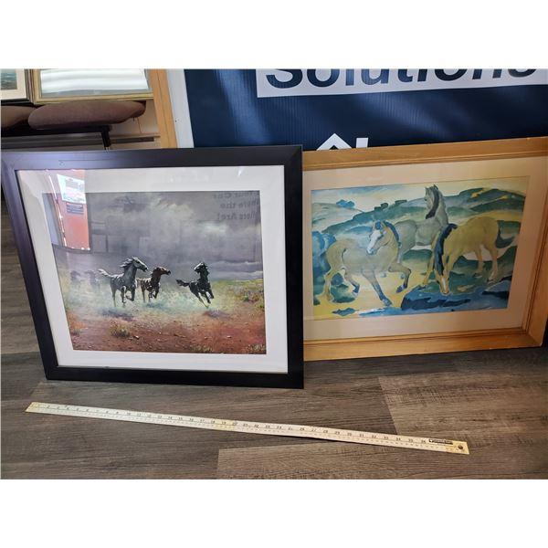 2 Prints of Horses