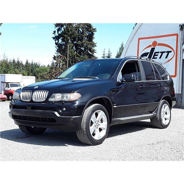 A12A --  2004 BMW X5 4.4I , Black , 203462  KM's