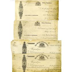 National Bank of Australasia, c. 1860-70s, Proof Exchange Quartet