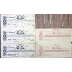Union Bank of Australia Ltd., 1880's Proof Exchanges Sheet Pair
