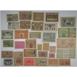 Various Austrian Notgeld & Other Issuers. 1920. Lot of 34 Issued Notes.