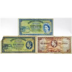 Bermuda Government Trio of Notes, 1937-1966
