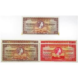 Bermuda Government, 1952-1966, Group of Issued Notes