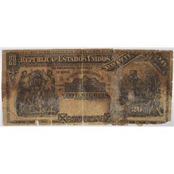 Republica dos Estados Unidos Brazil, Est. 8A, (1892) Contemporary Counterfeit Issued Banknote from A