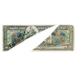 Republica Dos Estados Unidos Do Brazil, E.11A, (1908) Contemporary Counterfeit From ABN Research Dep