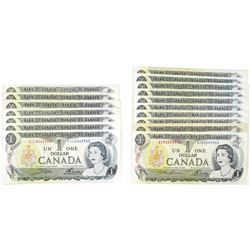 Bank of Canada Group of Issued Banknotes, 1973