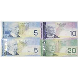 Bank of Canada Group of Issued Banknotes, 2002-2005