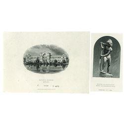 Banco De Concepcion, 1885 and Republica de Chile, 1881 to 1919 Proof Vignette Pair.