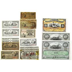 Large Group of Issued Cuban Banknotes, 1896