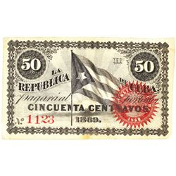 The Republic of Cuba, 1869 Issued Banknote