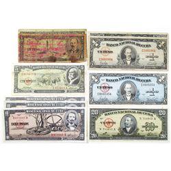 Banco Nacional de Cuba Group of Issued Notes, 1949-1960