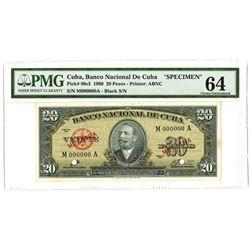 National Bank of Cuba, 1960 Specimen Note