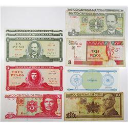 Banco Central de Cuba and Banco Nacional de Cuba Group of Issued Banknotes