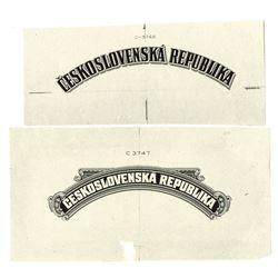 Republika Ceskoslovenska. ND  (ca. 1930s). Lot of 2 Proof Vignettes.
