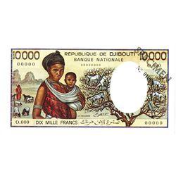 Republique de Djibouti Banque Nationale. ND (1984). Specimen Note.