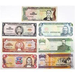 Banco Central de la Republica Dominicana Group of Issued Banknotes