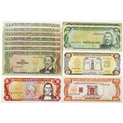 Banco Central de la Republica Dominicana, Large Group of Issued Banknotes