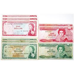 East Caribbean Currency Authority and Eastern Caribbean Central Bank Group of Issued Banknotes