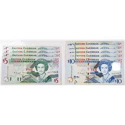 Eastern Caribbean Bank, Group of Issued Banknotes, ca.2003-2008