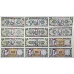 Ecuador. Banco Central del Ecuador, 1980s Issued Banknote Assortment