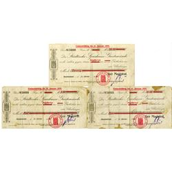 Germany, Emergency Scrip, Die Stadische Sparkasse GeestemŸnde, 1918 Lot of 3 Issued Notes.