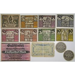 Various Germany Notgeld Issuers. 1921-1922. Lot of 12 Issued Notes.
